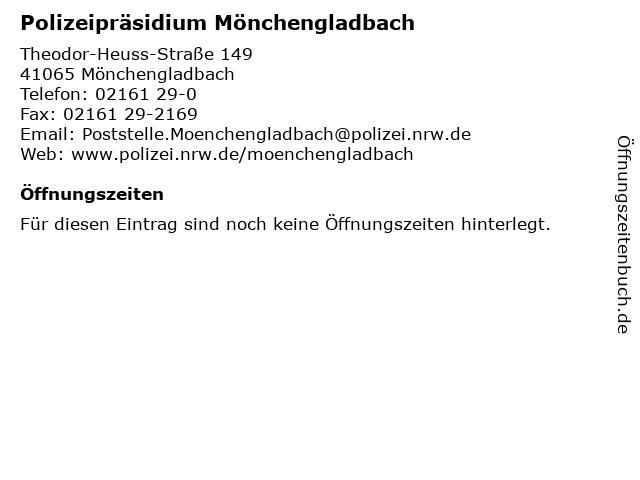 Polizeipräsidium Mönchengladbach in Mönchengladbach: Adresse und Öffnungszeiten