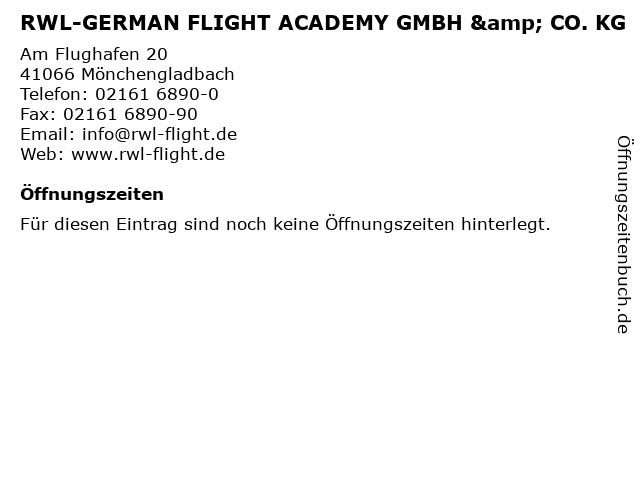 RWL-GERMAN FLIGHT ACADEMY GMBH & CO. KG in Mönchengladbach: Adresse und Öffnungszeiten