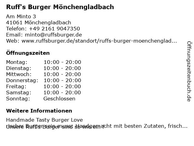 BURGERISTA in Mönchengladbach: Adresse und Öffnungszeiten