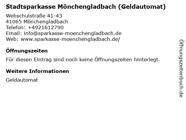 Stadtsparkasse Mönchengladbach - Geldautomat Hochschule Niederrhein in Mönchengladbach: Adresse und Öffnungszeiten