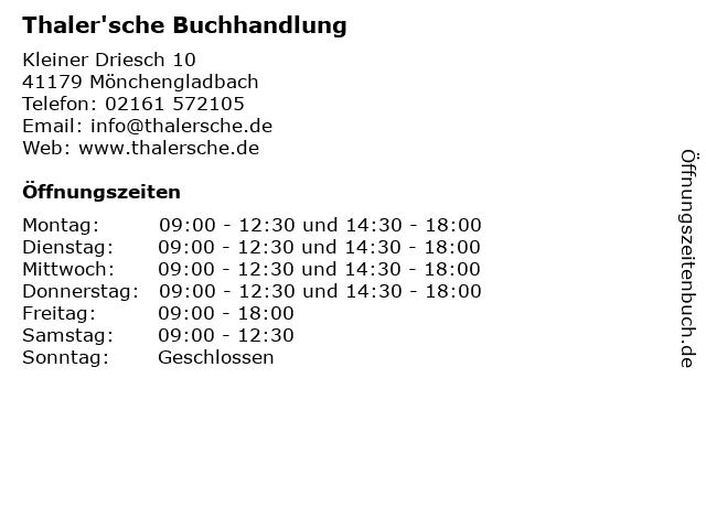 Thaler'sche Buchhandlung in Mönchengladbach: Adresse und Öffnungszeiten
