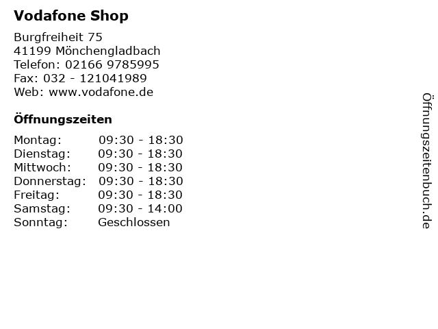 Vodafone Shop in Mönchengladbach: Adresse und Öffnungszeiten