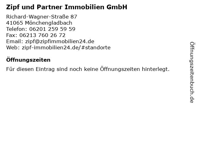 Zipf und Partner Immobilien GmbH in Mönchengladbach: Adresse und Öffnungszeiten