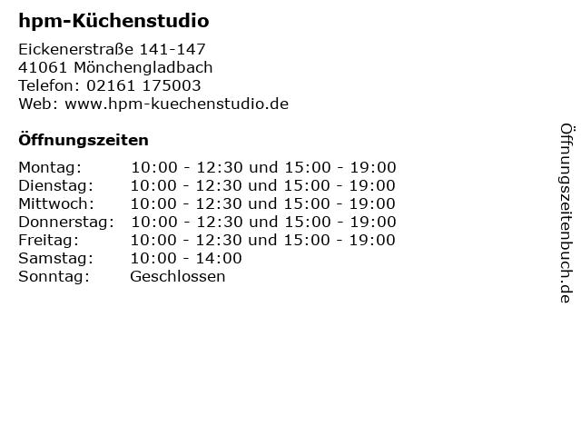 ᐅ Offnungszeiten Hpm Kuchenstudio Eickenerstrasse 141 147 In