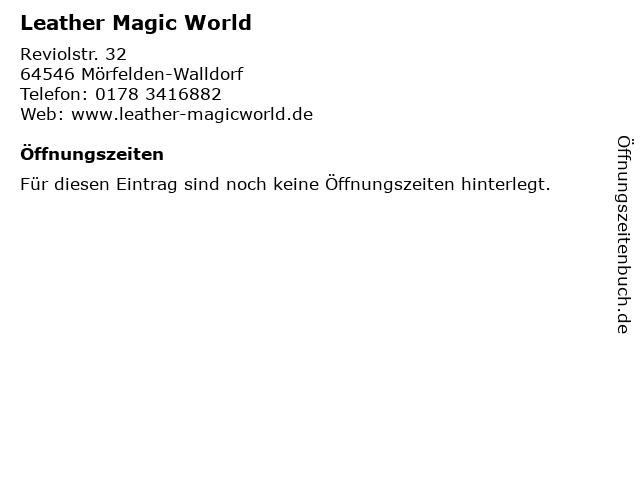 Leather Magic World in Mörfelden-Walldorf: Adresse und Öffnungszeiten