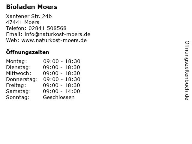 Bioladen Moers in Moers: Adresse und Öffnungszeiten