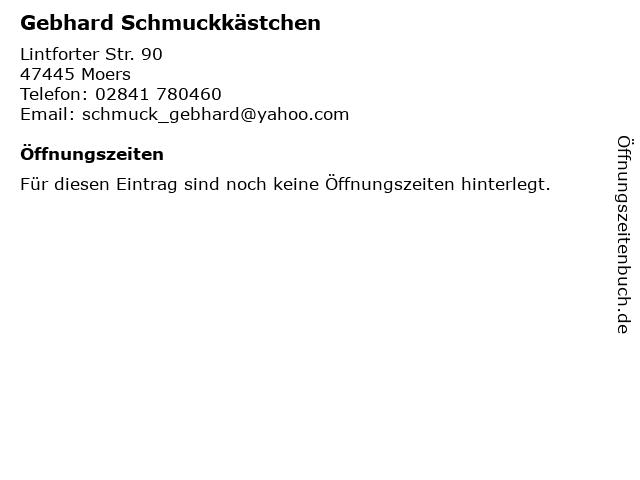 Gebhard Schmuckkästchen in Moers: Adresse und Öffnungszeiten