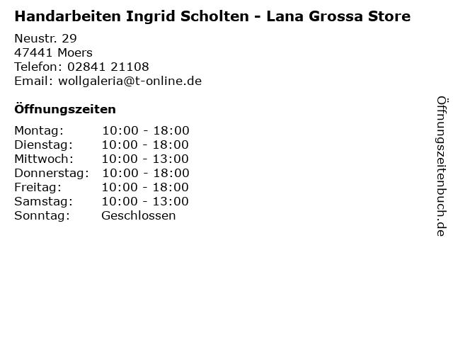 Handarbeiten Ingrid Scholten - Lana Grossa Store in Moers: Adresse und Öffnungszeiten