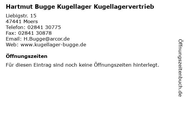 Hartmut Bugge Kugellager Kugellagervertrieb in Moers: Adresse und Öffnungszeiten