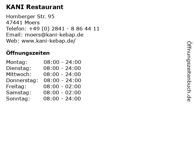 KANI Restaurant in Moers: Adresse und Öffnungszeiten