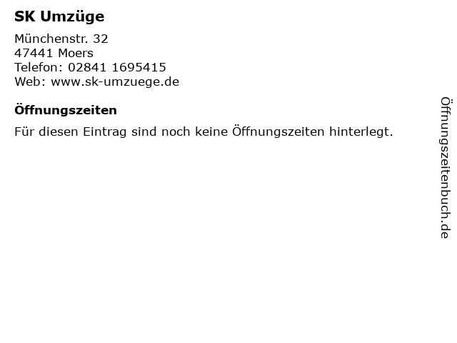 SK Umzüge in Moers: Adresse und Öffnungszeiten