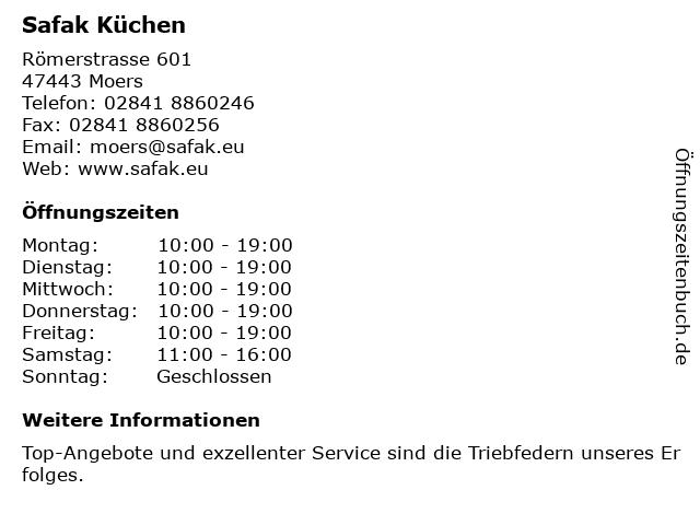 ᐅ Offnungszeiten Safak Kuchen Romerstrasse 601 In Moers