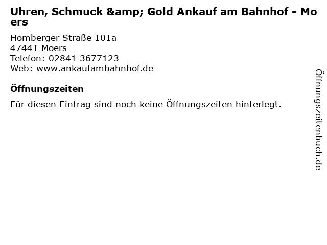 Ankauf am Bahnhof in Moers: Adresse und Öffnungszeiten