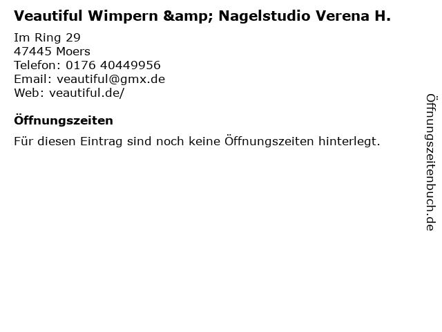 Veautiful Wimpern & Nagelstudio Verena H. in Moers: Adresse und Öffnungszeiten