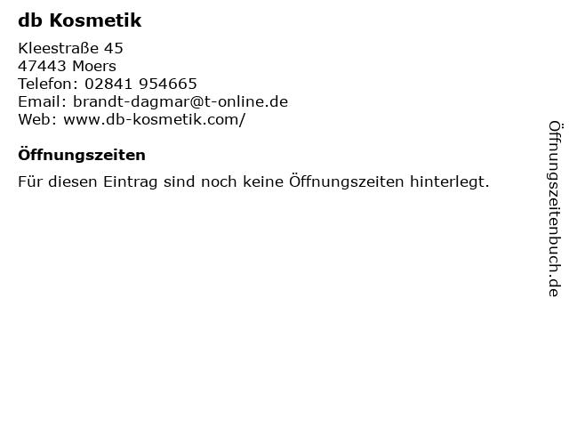 db Kosmetik in Moers: Adresse und Öffnungszeiten