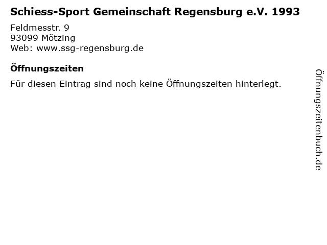 Schiess-Sport Gemeinschaft Regensburg e.V. 1993 in Mötzing: Adresse und Öffnungszeiten