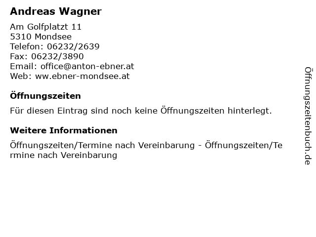 Andreas Wagner in Mondsee: Adresse und Öffnungszeiten
