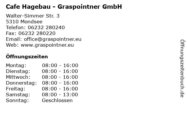 Cafe Hagebau - Graspointner GmbH in Mondsee: Adresse und Öffnungszeiten