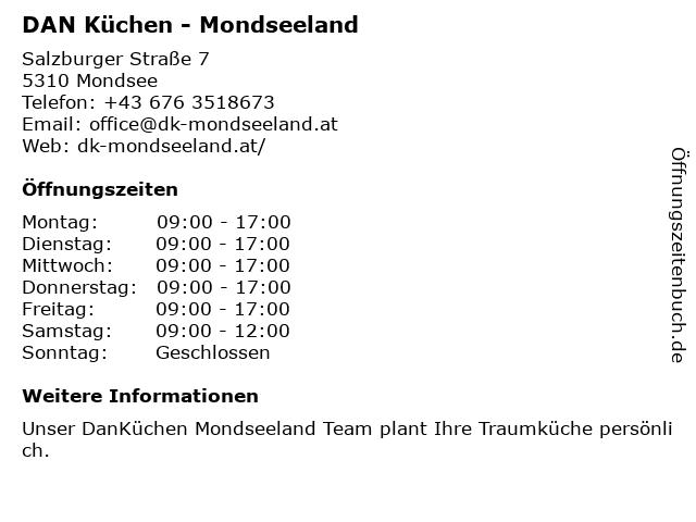 DAN Küchen - Mondseeland in Mondsee: Adresse und Öffnungszeiten