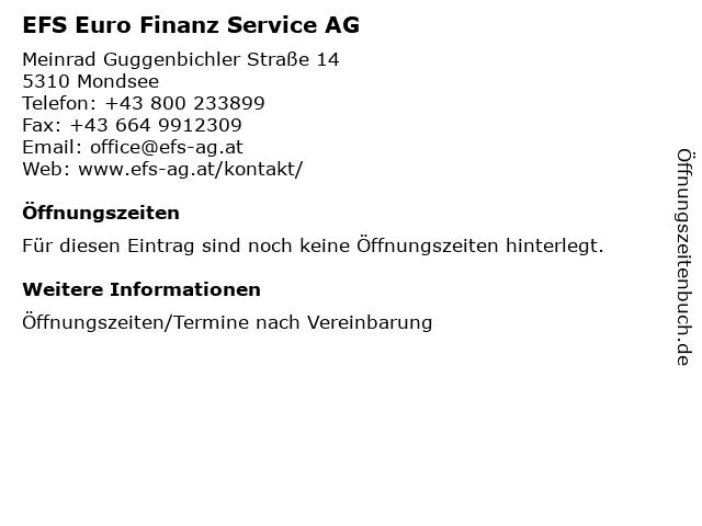 EFS Euro Finanz Service AG in Mondsee: Adresse und Öffnungszeiten
