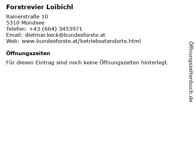 Forstrevier Loibichl in Mondsee: Adresse und Öffnungszeiten