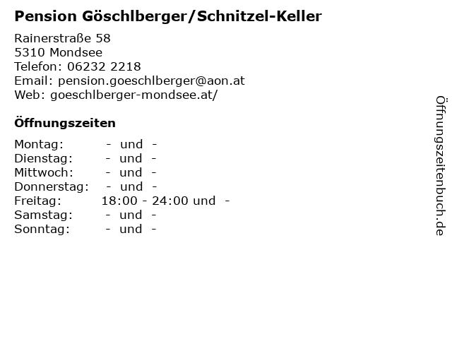 Pension Göschlberger/Schnitzel-Keller in Mondsee: Adresse und Öffnungszeiten
