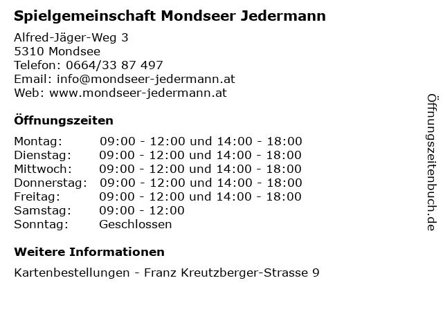 Spielgemeinschaft Mondseer Jedermann in Mondsee: Adresse und Öffnungszeiten