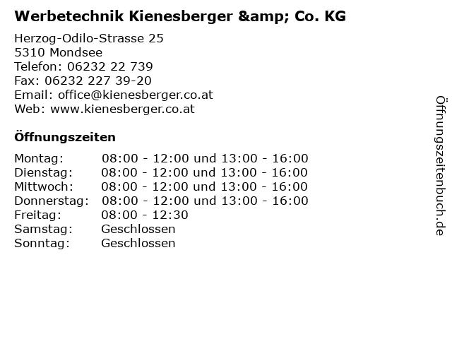 Werbetechnik Kienesberger in Mondsee: Adresse und Öffnungszeiten