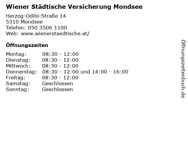 Wiener Städtische Versicherung Mondsee in Mondsee: Adresse und Öffnungszeiten