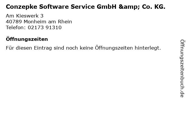 Conzepke Software Service GmbH & Co. KG. in Monheim am Rhein: Adresse und Öffnungszeiten
