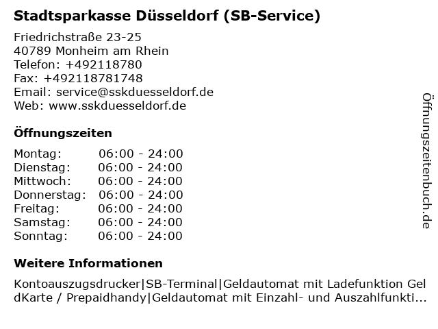 Stadtsparkasse Düsseldorf - (Geldautomat Filiale) in Monheim am Rhein: Adresse und Öffnungszeiten
