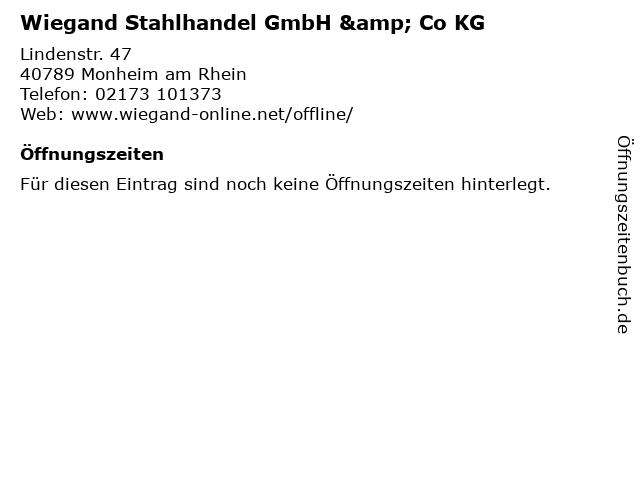 Wiegand Stahlhandel GmbH & Co KG in Monheim am Rhein: Adresse und Öffnungszeiten