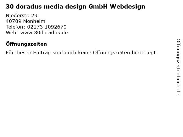 30 doradus media design GmbH Webdesign in Monheim: Adresse und Öffnungszeiten