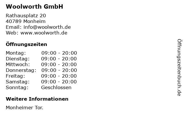 Woolworth GmbH in Monheim: Adresse und Öffnungszeiten