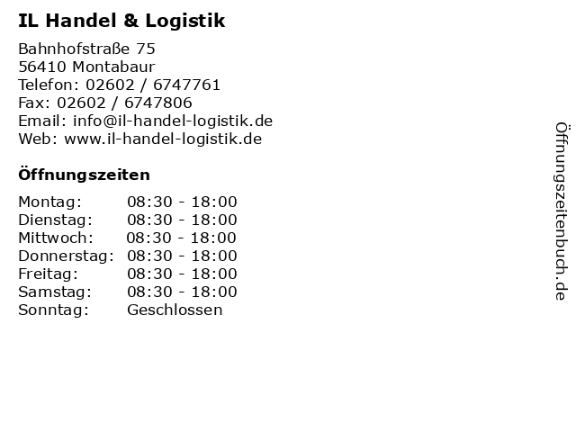 IL Handel & Logistik in Montabaur: Adresse und Öffnungszeiten
