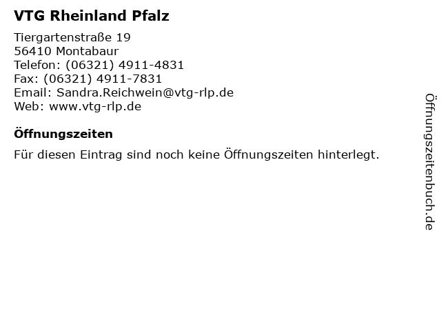 VTG Rheinland Pfalz in Montabaur: Adresse und Öffnungszeiten