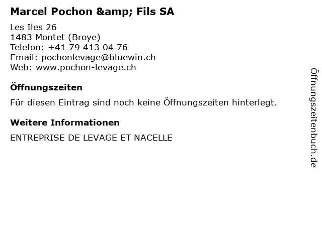 Marcel Pochon & Fils SA in Montet (Broye): Adresse und Öffnungszeiten