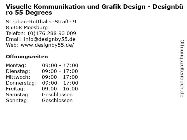 Visuelle Kommunikation und Grafik Design - Designbüro 55 Degrees in Moosburg: Adresse und Öffnungszeiten