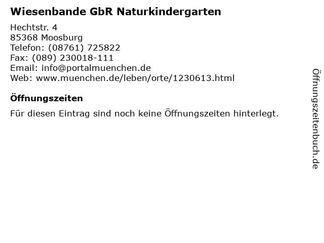 Wiesenbande GbR Naturkindergarten in Moosburg: Adresse und Öffnungszeiten