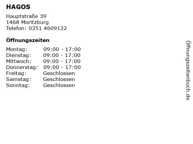 HAGOS in Moritzburg: Adresse und Öffnungszeiten