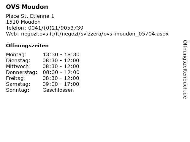 OVS Moudon in Moudon: Adresse und Öffnungszeiten