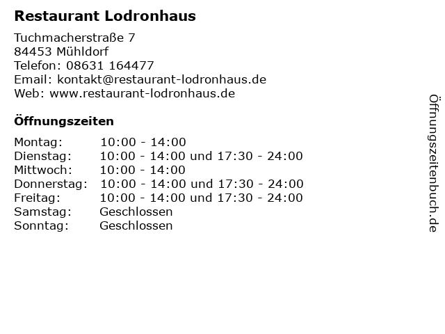 Restaurant Lodronhaus in Mühldorf: Adresse und Öffnungszeiten