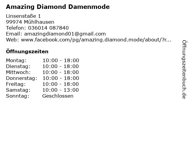 Amazing Diamond Damenmode in Mühlhausen: Adresse und Öffnungszeiten