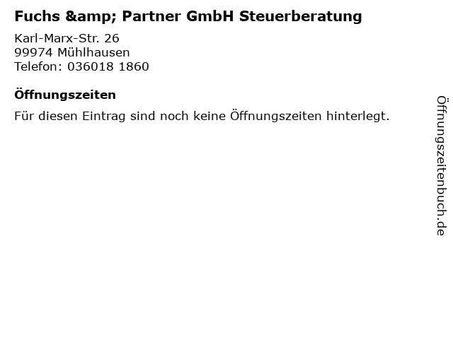 Fuchs & Partner GmbH Steuerberatung in Mühlhausen: Adresse und Öffnungszeiten