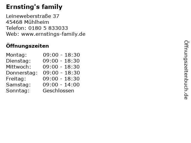 Ernsting's family in Mühlheim: Adresse und Öffnungszeiten