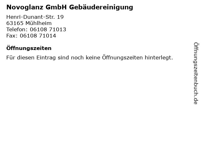 Novoglanz GmbH Gebäudereinigung in Mühlheim: Adresse und Öffnungszeiten
