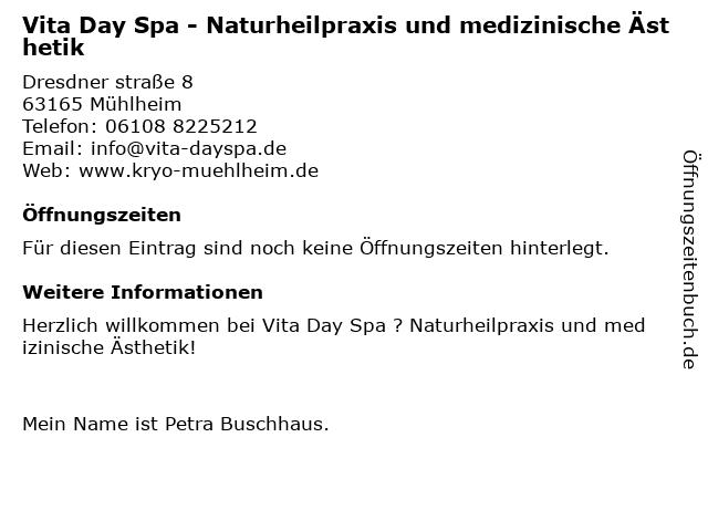 Vita Day Spa - Naturheilpraxis und medizinische Ästhetik in Mühlheim: Adresse und Öffnungszeiten