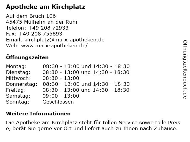 Apotheke am Kirchplatz in Mülheim an der Ruhr: Adresse und Öffnungszeiten