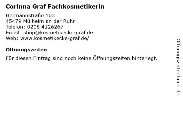 Corinna Graf Fachkosmetikerin in Mülheim an der Ruhr: Adresse und Öffnungszeiten