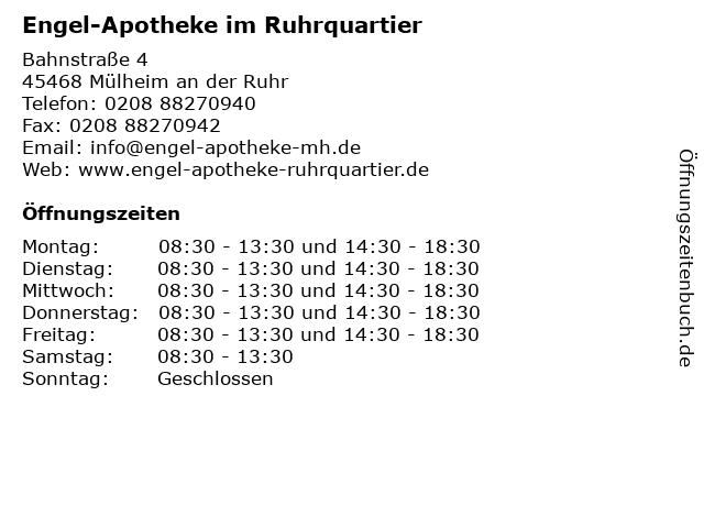 Engel-Apotheke im Ruhrquartier in Mülheim an der Ruhr: Adresse und Öffnungszeiten